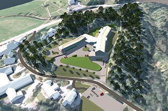 3D modell og visualisering av Tysnes omsorgssenter | Illustrasjon: Tysnes kommune