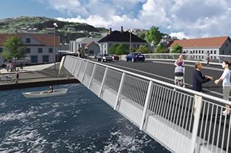 Flekkefjord bybro samferdsel vei