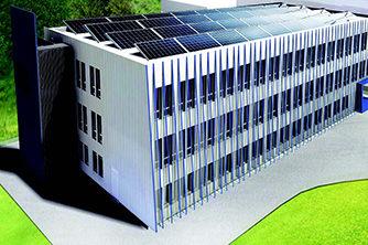Depotbygg – nybygg fra sør-vest | Ill.: LINK arkitektur