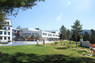 Nye Voss Gymnas | Illustrasjon: HLM Arkitektur AS