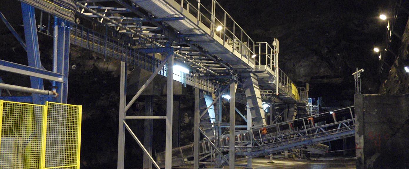 Multiconsult Industri Sydvaranger gruver Transportbånd til lagringssilo