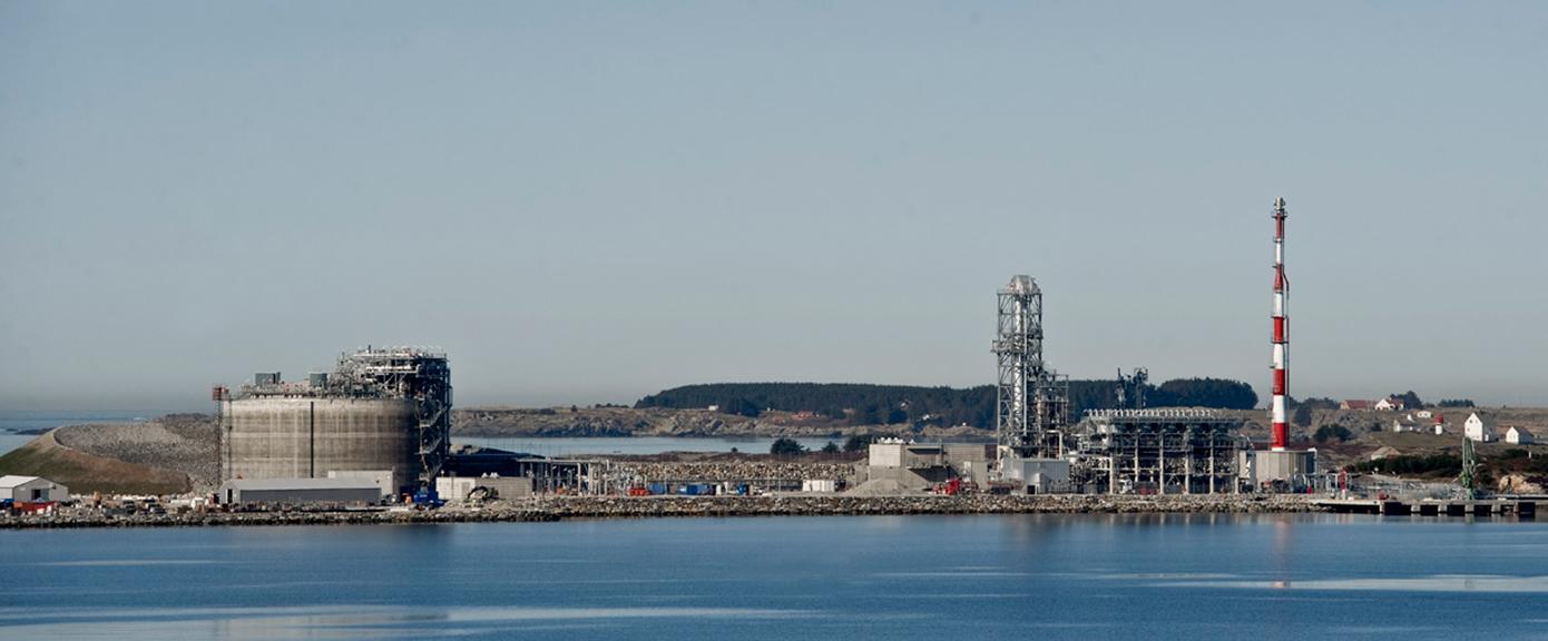 Lyse olje og gass landanlegg