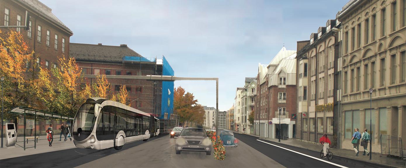 Multiconsult - Prosjekter - Superbuss Trondheim | Illustrasjon Multiconsult
