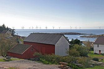 Siragrunnen vindpark. Fotomontasje: Multiconsult