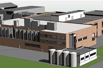 Mills Duplex – Tilbygg Næringsmiddelindustri | 3D-illustrasjon: Arkitektene Astrup og Hellern