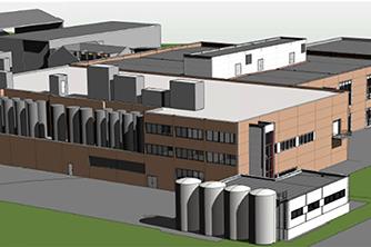 Mills Duplex – Tilbygg Næringsmiddelindustri   3D-illustrasjon: Arkitektene Astrup og Hellern