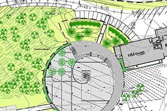 Kolvereid, torg, landskapsplan, stedsutvikling, Horvereid-vatnet, Multiconsult