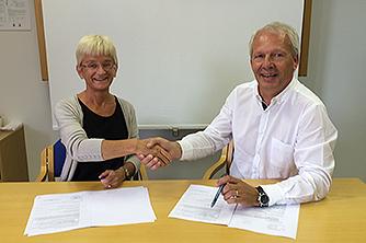 Multiconsult - fv. 109 - Kontraktssignering - Siri Rolland, Statens vegesen og Lars Opsahl, Multiconsult