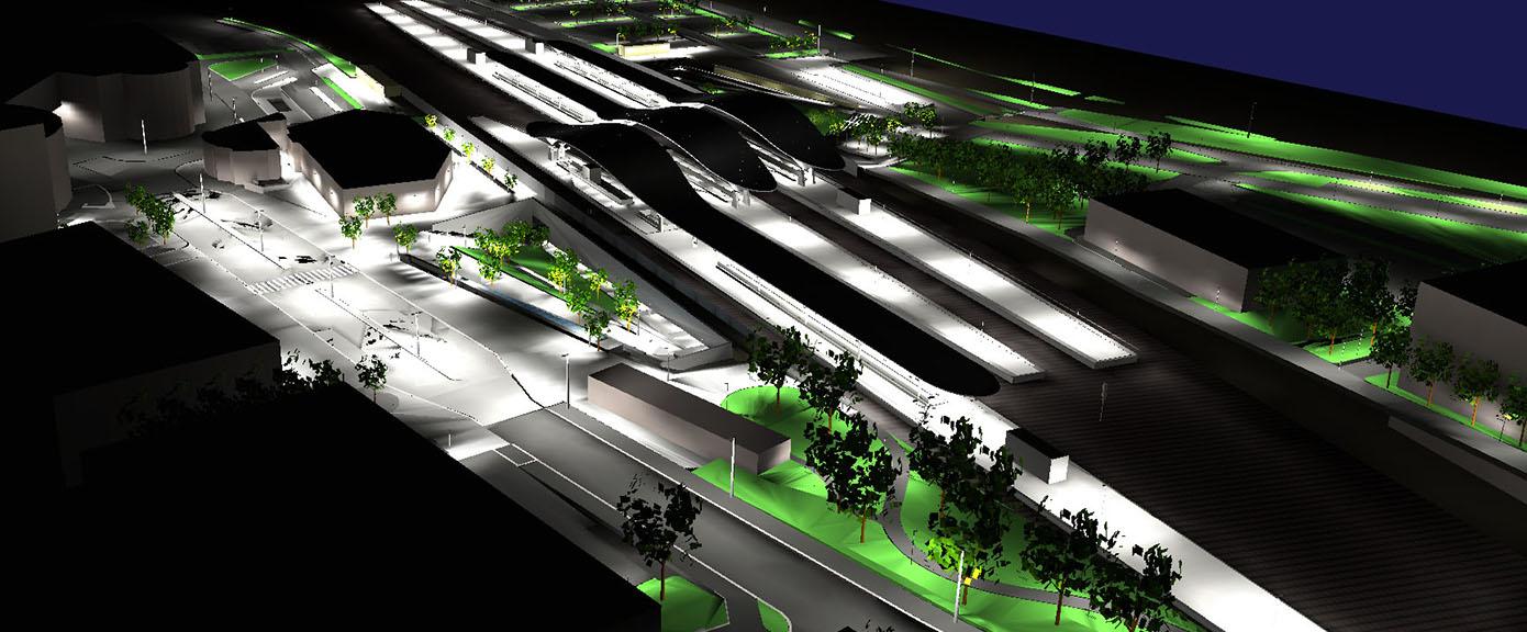 Samferdsel og infrastruktur, Ski stasjon, lysdesign, Multiconsult