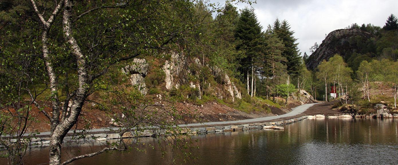 Samferdsel og infrastruktur, Løvstakkvann badeplass, tursti, turvei, friområde, grillplass, Multiconsult, Bergen,