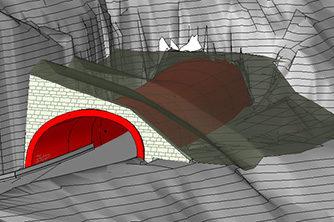 Samferdsel og infrastruktur, Fv 572 Eddagjelet, Tunnelportal, Ulvik herad, PLAXIS