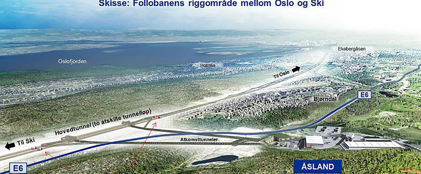 Samferdsel og infrastruktur, Follobanen, FPS AS, Multiconsult, Jernbane, Åsland
