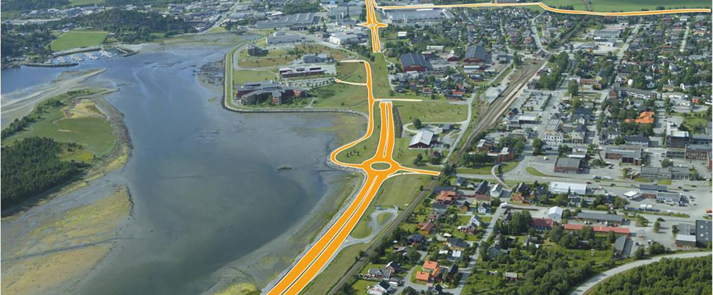 E6, Stjørdal, Værnes, Havnekrysset, vegprosjektering, rundkjøring, bru, tunnel, multiconsult