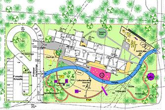 Aker, barnehage, lekeplass, utomhusplan, granskog, oase, multiconsult
