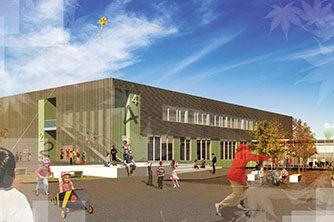 Fotoillustrasjon av skolegården | Illustrasjon: Lusparken Arktitekter AS