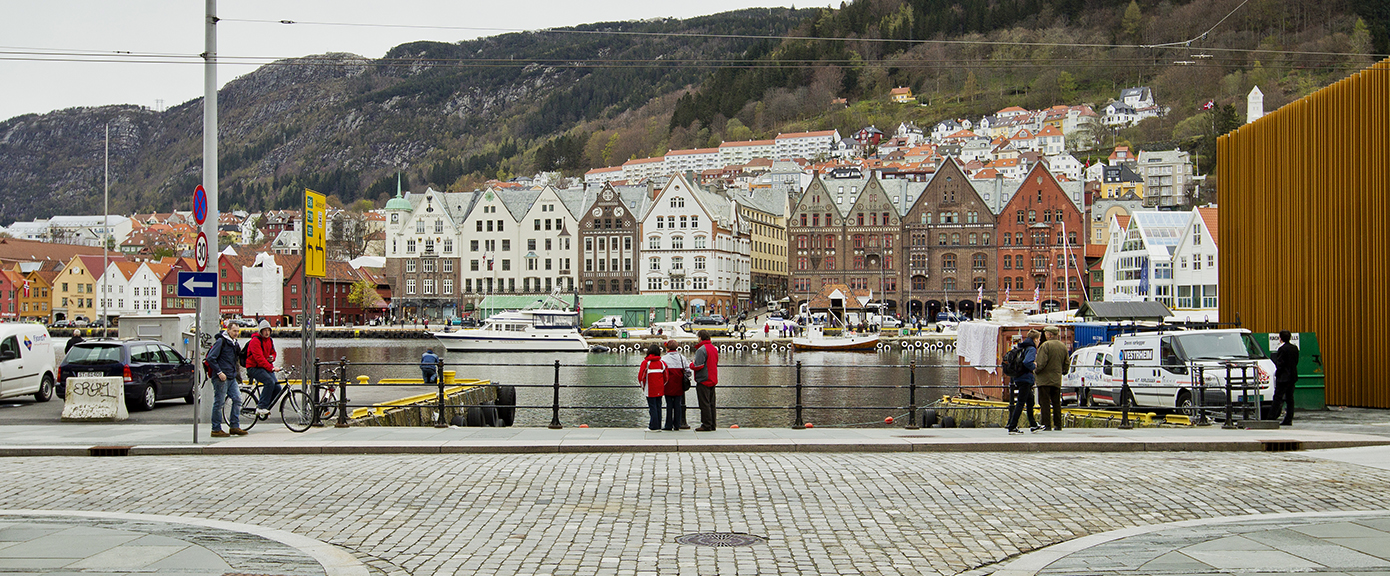 Strandkaien, Østre Murallmenning, Bergen, kai, veg ,brostein, multiconsult